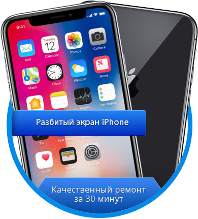Разбитый экран iPhone - RemFox.ru